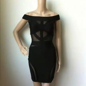 Black premium bandage dress